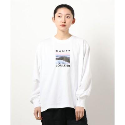 tシャツ Tシャツ 【CAMP7】フォトプリントロンT