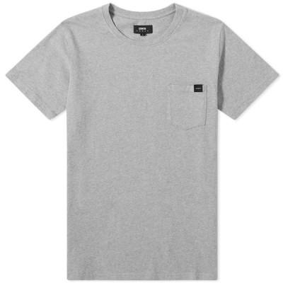 エドウィン Edwin メンズ Tシャツ ポケット トップス Pocket Tee Grey Marl