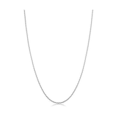 Sterling Silver Round Cable Chain Necklace (1.2 mm, 16 inch)