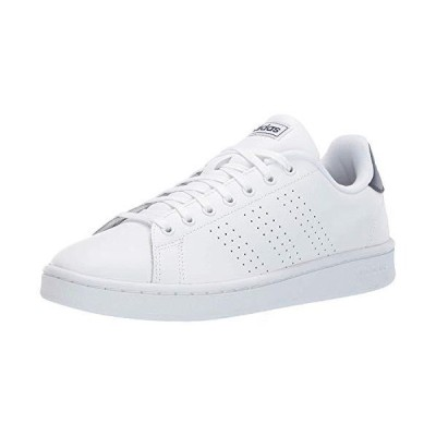 adidas Men's Advantage Running Shoe, White/White/Dark Blue, 9 M US【並行輸入品】