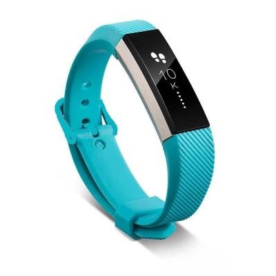 12色 シリコン時計バンド 交換 FitbitアルタHR リストバンド シリコンストラップ クラスプ スマートリ スカイブルー