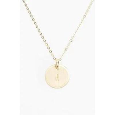 NASHELLE レディースアクセサリー NASHELLE 14k-Gold Fill Initial Mini Circle Necklace