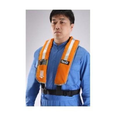 【個人宅配送不可】エスコ EA915DE-1 直送 代引不可 自動拡張ライフベスト 救命衣 EA915DE1
