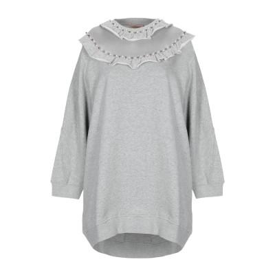 ツインセット シモーナ バルビエリ TWINSET スウェットシャツ グレー XS コットン 100% / ポリウレタン スウェットシャツ