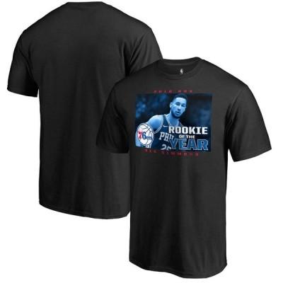 NBA Tシャツ 76ers ベン・シモンズ 2018 ルーキーオブザイヤー ブラック【OCSL】