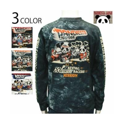 PANDIESTA JAPAN/パンディエスタジャパン ハングオン パンダ 長袖Tシャツ (539851)長袖 Tシャツ モータース ハングオン パンディエスタ 柄 刺繍 送料無料