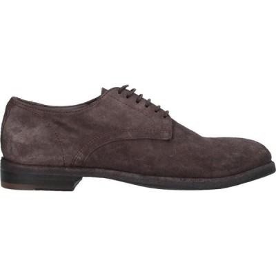 オープン クローズド シューズ OPEN CLOSED SHOES メンズ 革靴・ビジネスシューズ シューズ・靴 Laced Shoes Dark brown