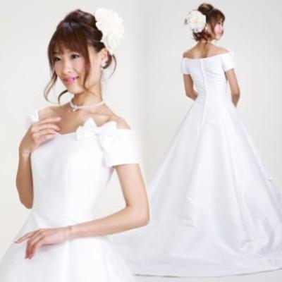 【ウェディングドレス レンタル 5号-7号】【Aライン】ウエディングドレス ウェディング ドレス 披露宴 6101 【往復送料無料】