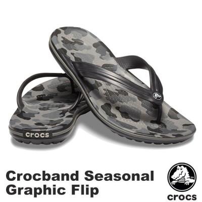 クロックス CROCS クロックバンド シーズナル グラフィック フリップ crocband seasonal graphic flip メンズ レディース サンダル[BB]