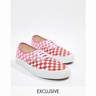 ヴァンズ スニーカー Authentic checkerboard plimsolls in pink Exclusive at ASOS Pink