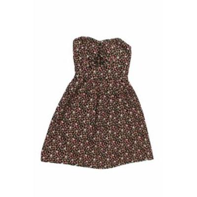 ファッション ドレス Bebop New Black Strapless Floral Bustier Dress S