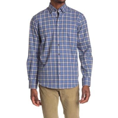 スコットバーバー メンズ シャツ トップス Brushed Melange Check Print Long Sleeve Shirt -
