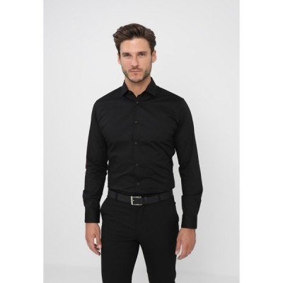 セレクテッドオム シャツ メンズ トップス SLHSLIMBROOKLYN - Formal shirt - black