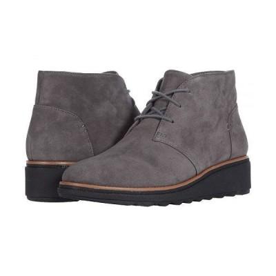 Clarks クラークス レディース 女性用 シューズ 靴 ブーツ アンクル ショートブーツ Sharon Hop - Grey Suede