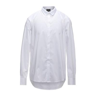 エンポリオ アルマーニ EMPORIO ARMANI シャツ ホワイト XL コットン 72% / ナイロン 24% / ポリウレタン 4% シャツ