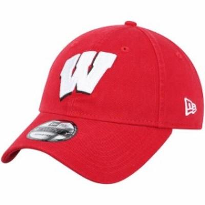 New Era ニュー エラ スポーツ用品  New Era Wisconsin Badgers Red Team Core 9TWENTY Adjustable Hat