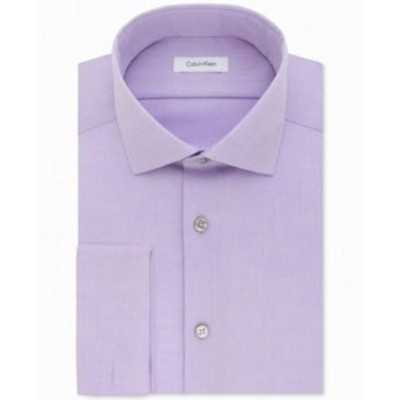 Calvin Klein カルバンクライン ファッション ドレス Calvin Klein Mens Purple Size 15 1/2 Slim Fit Performance Dress Shirt