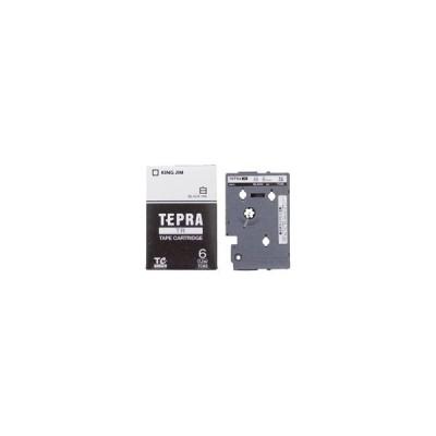 キングジム テプラTRテープ TC6S 白に黒文字 6mm
