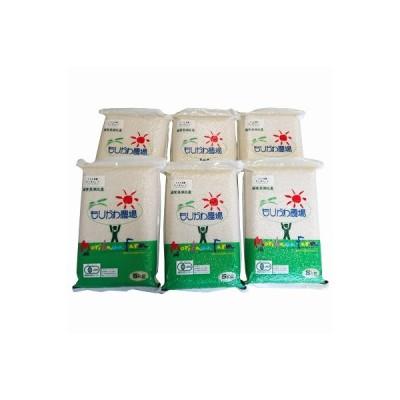 長浜市 ふるさと納税 JASオーガニック コシヒカリ (白米)真空パック 5kg×6袋