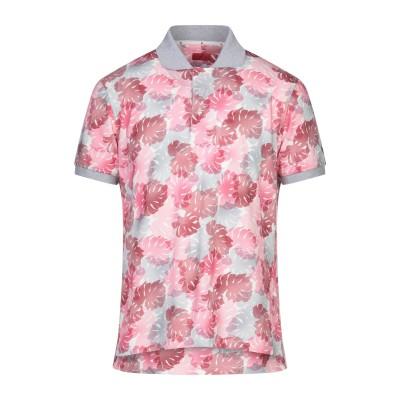 イザイア ISAIA ポロシャツ ピンク M コットン 100% ポロシャツ
