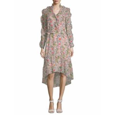 ジュリアヨルダン レディース ワンピース Floral-Print Ruffled Hi-Lo Dress