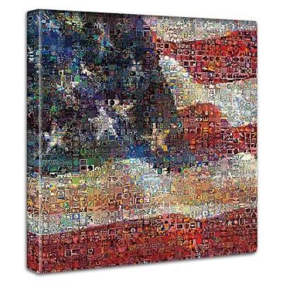 星条旗の絵 ファブリックパネル インテリア アート イラスト 玄関 リビング 飾り おしゃれ 壁掛け 絵