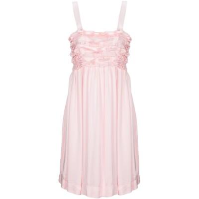 DIXIE ミニワンピース&ドレス ライトピンク S レーヨン 100% ミニワンピース&ドレス