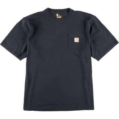 カーハート ロゴプリントポケットTシャツ XL /eaa012718