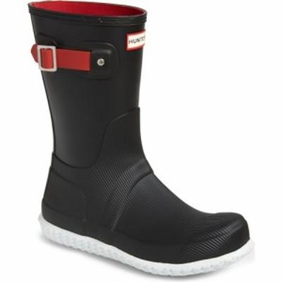 ハンター HUNTER メンズ レインシューズ・長靴 シューズ・靴 Original Short Rain Boot Black/Hunter Red