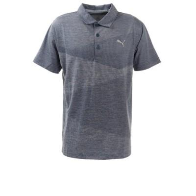 プーマ(PUMA)ゴルフ ポロシャツ メンズ オルタニットジャガードポロシャツ597532-04