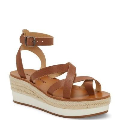 ラッキーブランド レディース サンダル シューズ Jakina Leather Platform Wedge Sandals Latte