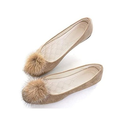 VFDB Women Comfort Square Toe Ballets Flats, Slip On Classical Walking Shoe