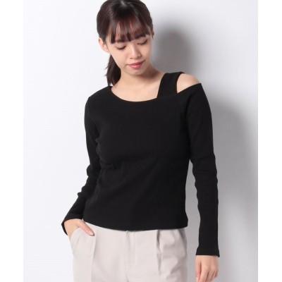 【ウィゴー】 WEGO/ワンショルリブTシャツ レディース ブラック F WEGO