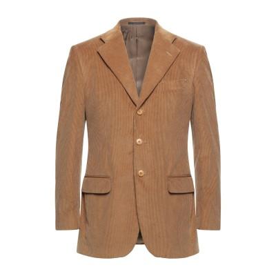 LUBIAM テーラードジャケット キャメル 48 コットン 100% テーラードジャケット