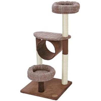 アドメイト 猫のおあそびポールチェック ミドルタイプ 爪とぎ付 おもちゃ 一人遊び キャットタワー 猫 ネコ ~8kg 設置場所を選ばないコ