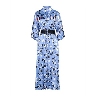 SFIZIO ロングワンピース&ドレス スカイブルー 42 レーヨン 100% ロングワンピース&ドレス