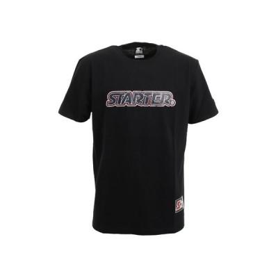 スターターブラックレーベル(STARTERBLACKLABEL) CLACK ロゴTシャツ ST-2001-020 BLK (メンズ)