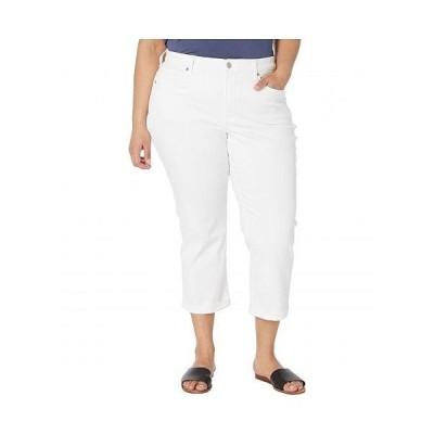NYDJ Plus Size エヌワイディージェー レディース 女性用 ファッション ジーンズ デニム Plus Size Chloe Capri Jeans in Optic White - Optic White