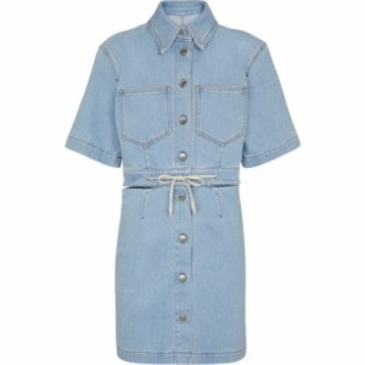 ナヌシュカ Nanushka レディース ワンピース ミニ丈 ワンピース・ドレス Taylor cutout denim minidress Light Blue