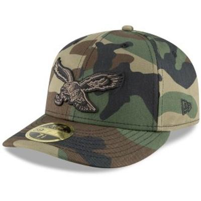 ニューエラ メンズ 帽子 アクセサリー Philadelphia Eagles New Era Team Low Profile 59FIFTY Fitted Hat Camo