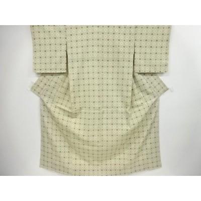 宗sou 蜀江に抽象模様織り出し本塩沢着物【リサイクル】【着】