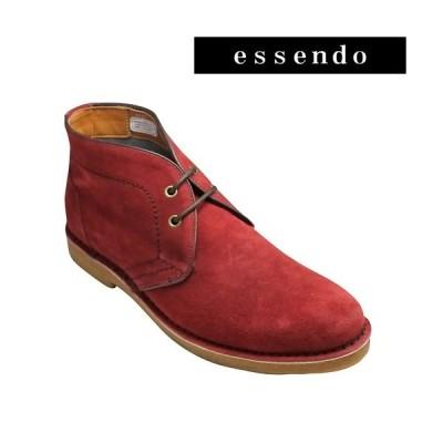 ヒロミチ ナカノ/デザートブーツ 184H(レッドベロア)/3E幅広 hiromichi nakano/メンズ 靴