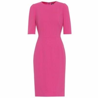 ドルチェ&ガッバーナ Dolce & Gabbana レディース パーティードレス ワンピース・ドレス Crepe midi dress Rose Pink