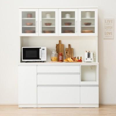 食器棚(レジューム 150TG-H WH/150SL-R WH) ニトリ 『配送員設置』 『5年保証』