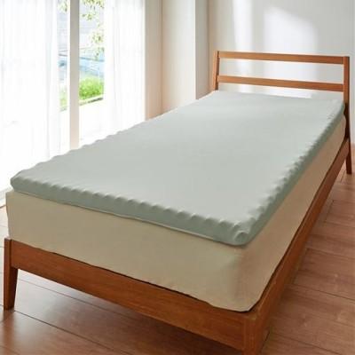 寝心地が良くなる寝具(3ゾーン体圧分散トッパー)/グレー/シングル(97×195×厚さ4cm)