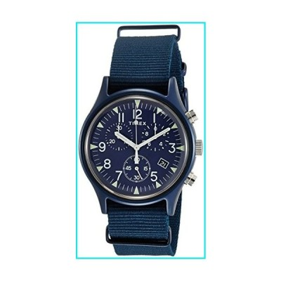 Timex MK1 Aluminum Chronograph 40 mm Blue Dial Watch TW2R67600【並行輸入品】