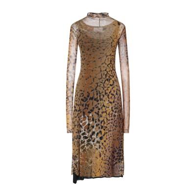 VIRNA DRÒ® 7分丈ワンピース・ドレス オークル 2 ナイロン 100% 7分丈ワンピース・ドレス
