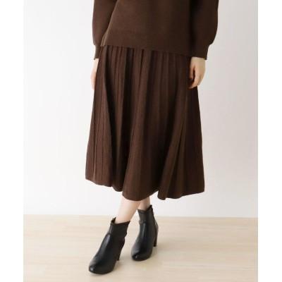 SHOO・LA・RUE/DRESKIP(シューラルー/ドレスキップ) 【M-L/洗濯機で洗える】ラメ混ニットスカート