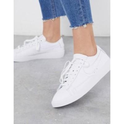 ナイキ レディース スニーカー シューズ Nike Blazer Low white sneakers White