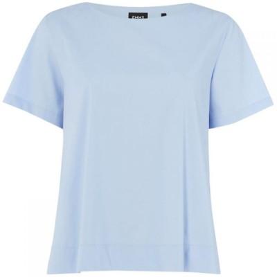 エメ Emme レディース トップス Red crew neck short sleeve top Sky Blue